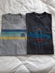 Camisetas Rip Curl e Billabong G