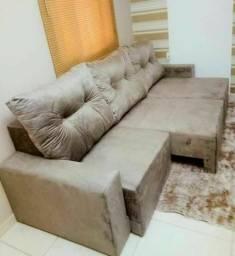Melhor Preço!Sofá Retrátil 2,20m 3 Módulos,Conforto e Qualidade,Entregamos Na Sua Casa!
