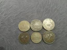 Lote de moedas de reis por 30 reais