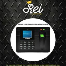 Ponto Eletrônico com opção de senha ou biometria Danmini, ideal para seu comércio