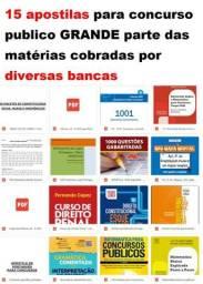 15 Apostilas Para Concurso Publico /alfacon /gramatica.