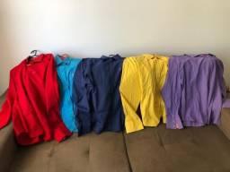 Cinco camisas feminina Aceito cartão