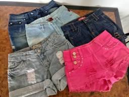 Saias e shorts T: 36 e 38. 25 reais cada