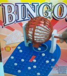Jogo de Bingo com Roleta Bolas e Cartelas oferta Brinquedo coleciona diversao