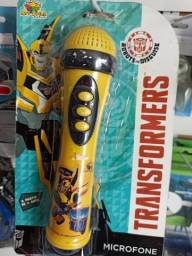 Microfone Transformers- Funciona com 3 pilhas AAA