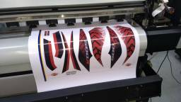 Adesivo da tampa lateral cb509x vermelho e preto