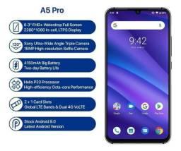 Celular Umidigi A5 Pro Dual Sim 4gb Ram 32gb Memória Digital