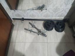 Anilhas e barra de ferro, usado comprar usado  Lins