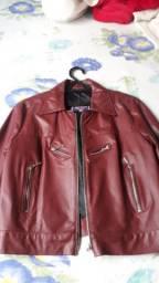 Jaqueta de couro legítimo (feminino)