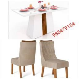 Mesa Itália com 4 cadeiras novo na caixa