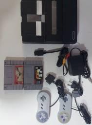 Super Nintendo completo, com 2 controles +jogos
