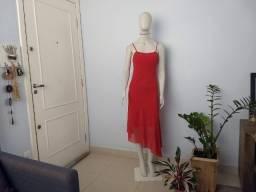Título do anúncio: vestido festa vermelho longuete 38