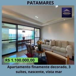 Título do anúncio: Super oportunidade - Apartamento 3 suítes, varanda, nascente, vista mar em Patamares