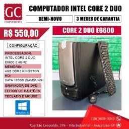 Título do anúncio: Computador Core 2 Duo C/ 4GB de Memória DDR3