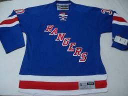 Título do anúncio: Nhl - Camisa Do New York Rangers - Tam Large - Zerada - Linda - Henrik Lundquivist #30