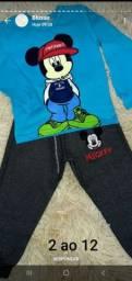 Conjuntos calça moletom e camiseta manga longa