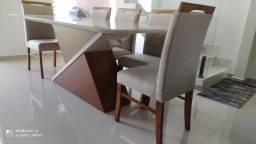 Título do anúncio: Mesa Zara retangular de jantar 8 lugares nova cadeiras de madeira maciça