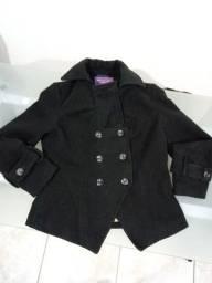 Casaco/blazer em lã batida com pontas