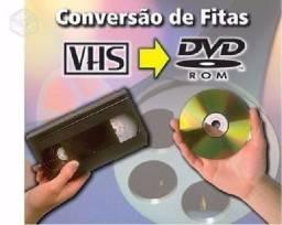 Conversão, converter Fita VHS e de Filmadora para DVD