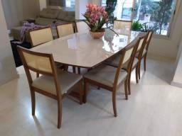 Título do anúncio: Mesa de jantar nova completa pronta entrega 8 lugares de madeira maciça
