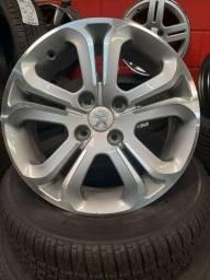 "Jogo de Roda Peugeot 208 aro 16""usada 4x108"