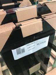 Material completo de janela 4 folhas 1,00a x 1,20l