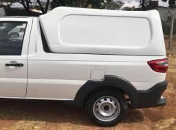 apota de Fibra Fiat Strada Modelo Tradicional Baixo Meia Tampa- Cabine Simples 2014/2019