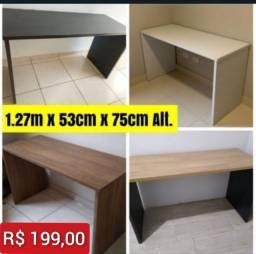 Título do anúncio: Escrivaninha Nova 1.27m x 53cm - Entrego e Monto