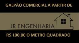 Título do anúncio: galpão comercial a partir de 100,00 o metro, quadras e coberturas em geral