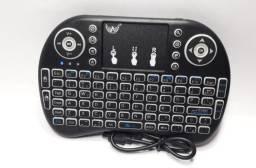 Mini Teclado Touchpad Sem Fio Com Led Tv Box Smar Tv, pc.notebooks, tablets.