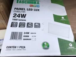 2 Painel LED embutir 24w taschibra