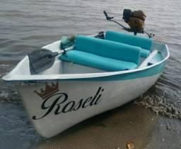 Barco com motor e Coletes!