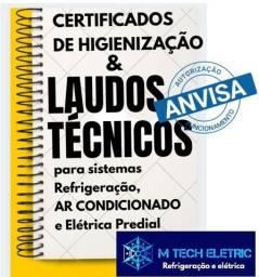 Título do anúncio: Certificado de higienização para ar condicionado + relatório de atendimento