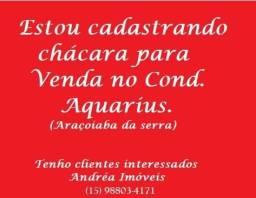 Procuro Chácara Cond. Aquarius