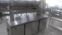 Balção Refrigerado Condimentadora Ar Forçado 100% Inox