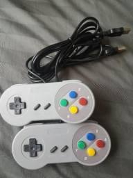 Controle de Super Nintendo Usb Para Pc e Notebook