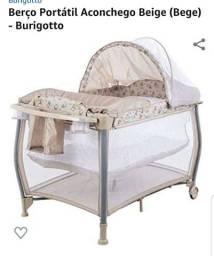Berço burigotto portátil + colchão