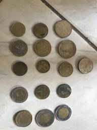 Moedas antigas para coleção