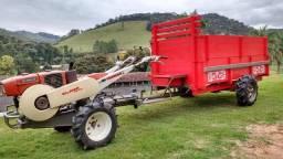 Fábrica (Carroça) Carreta Agrícola Tracionada 4x4 para Micro Trator STS