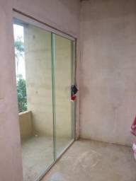 Porta de blindex 2 folhas .1 m,70 cm