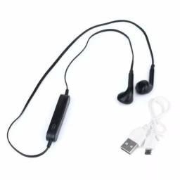 Fone com microfone estereo S6 bluetooth - entrega grátis