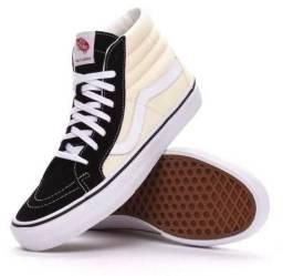 Tênis Vans SK8 HI Pro 87 50th Black Classic White be368e32d5603