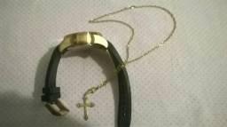 Relógio invicta e cordão de ouro
