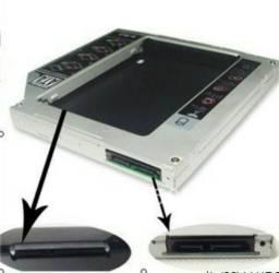 Adaptador Caddy 9.5mm para segundo HD ou SSD para Notebook