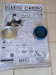Vendo tapete higiênico lavável meu bartô (zerado ) + vasilhas de água e ração