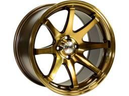 Jogo de rodas GISA 3908 duas talas (17X7,5 e 17X9) 4X100 Bronze (Eurolook)