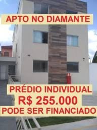 Apartamento novo em prédio Individual no bairro Diamante região do Barreiro