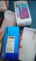 Xiaomi Redmi Note 8 novo azul