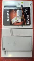 Smart fone sony Xperia z3 mais micro sd Samsung evo plus 256gb