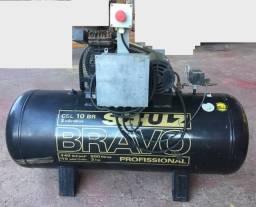 Compressor Ar Schulz Csl10br - 200lts - Bravo